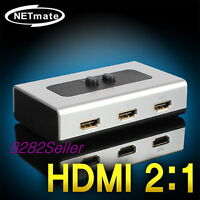2 Port HDMI Manual SELECTOR Sharing Switch 2-WAY Switcher BOX 2:1 1080P LCD TV