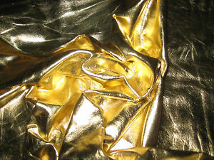 AMERICAN COW HIDE LEATHER FOIL METALLIC GOLD .  *DIFFERENT SIZES