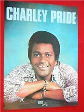 CHARLEY PRIDE 1970s VINTAGE POSTER NRMINT to MINT COND