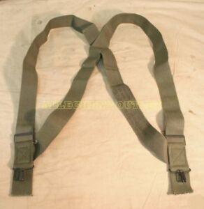 M1950 Trouser Pant Suspenders Elastic OD Green US Military Surplus EXC