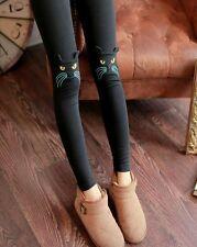 New Autumn winter black cat face leggings Nine minutes pants trousers