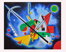 Dipinto olio su tela omaggio a kandinsky prodotto italiano painting quadro