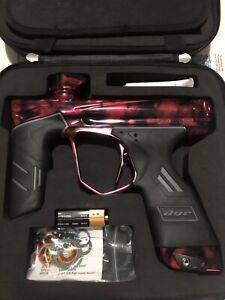 Dye DSR Paintball Gun Electronic Tournament Marker Acid Wash Red Gloss