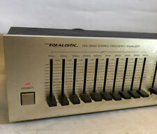 Realistic Model 31-2005 Ten Band Stereo Frequency Equalizer Free Shipping