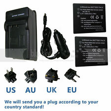 2X Battery + Charger for Panasonic SDR-S26 SDR-SW20 SDR-SW21 SDR-SW28 Camcorder