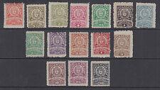 Argentina, San Juan, Forbin 167//216. 1910-12 Provincial Revenues, 15 different