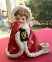 "Vintage Goebel Angel Candleholder 3 1/4"" TMK6 1967 Beautiful! Christmas gift EUC"