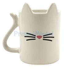 ANIMAL MUG White CAT Ceramic 350ml Tea COFFEE Mug GIFT REPUBLIC