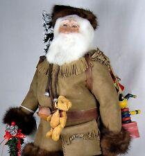 "Frontier Santa Claus 19"" sculpted by Brenda Goin Morris 2000 OOAK incl book"