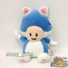 "Super Mario 3D World Blue Cat Toad Plush Soft Toy Stuffed Animal Teddy Figure 8"""