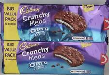 2 x cadbury crunchy melts oreo creme cookies big value pack
