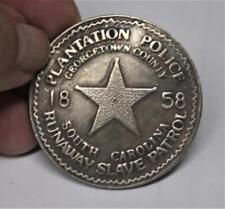 Recreated Plantation Police Runaway Slave Patrol Badge