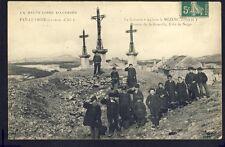 RARE Carte Postale Ancienne Auvergne FAY sur LIGNON Hte Loire Le CALVAIRE Animés