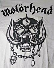 Authentic MOTORHEAD War Pig Logo Snaggletooth - White Men's MEDIUM T-Shirt NWT