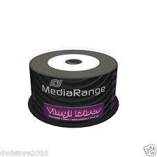 200 MediaRange Cd-r 52x Printable Stampabili Vinile Vinyl Look Black Dye Mr226