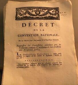 RÉVOLUTION.COMMISSAIRES NATIONAUX PRÉS TRIBUNAUX CRIMINELS . AN PREMIER(1792).