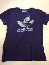 Adidas Originals Trefoil T-Shirt, violett - B-Ware  Damen Shirt Gr. 38