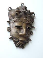 Africaine Art Masque Wandmaske Bronze à la main