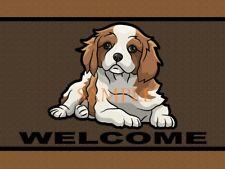 Cavalier King Charles Spaniel Dog #2 Welcome Home Doormat Door Mat Floor Rug