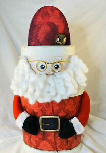 SANTA STACKING NESTING BOXES Christmas Decorations Gift Baskets Box with Lid