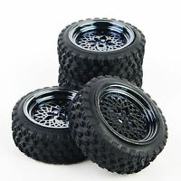 1/10 RC Rally Racing Off Road Car Rubber Tyre Tire and Wheel 4PCS 10362-21104