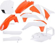 Full Plastic Kit Orange/White Acerbis 2403094891 15-17 KTM 125-450