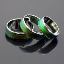 6mm Wide Smart Stainless Ring Changing Color Mood Feeling Emotion Temperature 18