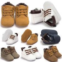 Newborn Baby Boy Girls Soft Sole Crib Shoes Warm Boots Anti-slip Sneakers 0-18M