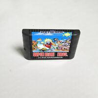 Super Mario Bros. - 16 bit Game Card For Sega Genesis / Mega Drive System