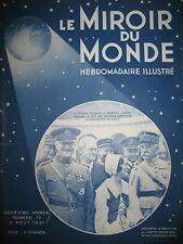 PERSHING LYAUTEY SULTAN MAROC AVIATION INTERNATIONALE LE MIROIR DU MONDE 1931