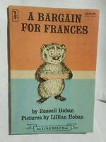 Russell & Lilian Hoban: A bargain for Frances an I can read book 1978 Kinderbuch