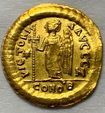 ANCIENT BYZANTINE GOLD COIN ANASTASIUS I SOLIDUS 491-518 A.D. CHOICE COIN!