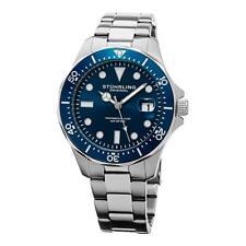 Stuhrling 824 02 824.02 Aquadiver Quartz Date Blue Dial Bracelet Mens Watch