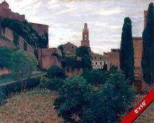 Girona Español Ciudad Apaisado España Rusinol Pintura Arte Real