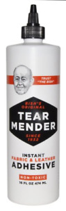 Bishs Tear Mender Permanent Leather Fabric Glue for Bond Repair Clothes Patches
