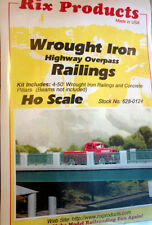 Rix (HO-Scale) #628-0124 Wrought Iron Highway Overpass Railings - NIB