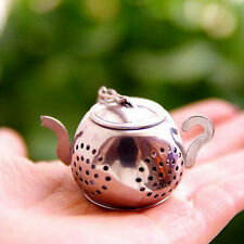 Hotsale Teapot Shape Tea Leaf Infuser With Tray Drinking Strainer Herbal Filter