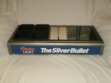Coors Light Silver Bullet Bar Caddy Condiment Fruit Tray w/ Vintage Coasters