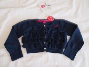 CAKEWALK Designer Dutch Girls Sz 4y 104 BlueTiered Ruffle Cropped Cardigan *NWT*
