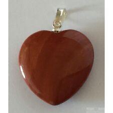 Pendentif coeur Jaspe rouge taille 2 cm