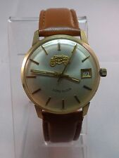 Vintage Men's Lord Elgin Date 14k Gold Watch Fisher Body Stagecoach GM - RARE!