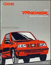 1992 Geo Tracker Shop Manual 92 OEM Original Repair Service Book LSi Chevy