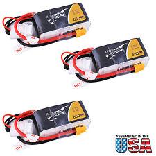 3x Tattu 850mAh 11.1V 45C 3S1P Lipo Battery Pack with XT30 plug