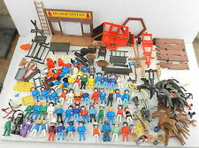 GEOBRA PLAYMOBIL Lot of 100+ Figures - Horses - Stagecoach &  Accessories ~ 1974