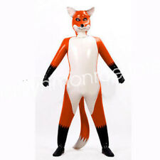 Nature Latex Rubber Fox Bodysuit Masquerade Inflated Animal Catsuit Size XXS-XXL