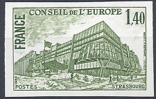 SERVICE N°63 EUROPE ESSAI COULEUR NON DENTELÉ VERT PROOF IMPERF 1980 NEUF ** MNH