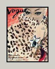 """A 10"""" x 8"""" Art Deco Print - Lady in Leopard Skin Coat"""
