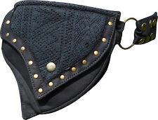 STEAMPUNK Crochet Black Lace Pixie Pocket Hip Waist Belt Festivals