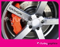 QASHQAI LOGO ALLOY WHEEL DECALS STICKERS GRAPHICS x5 IN BLACK VINYL