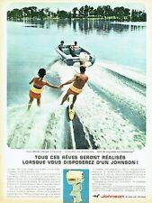 Publicité Advertising 037  1966   moteur hors-bord Johnson ski-nautique